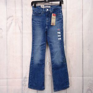 Levi's 315 Shaping Boot Cut Jeans Sz 0 Short